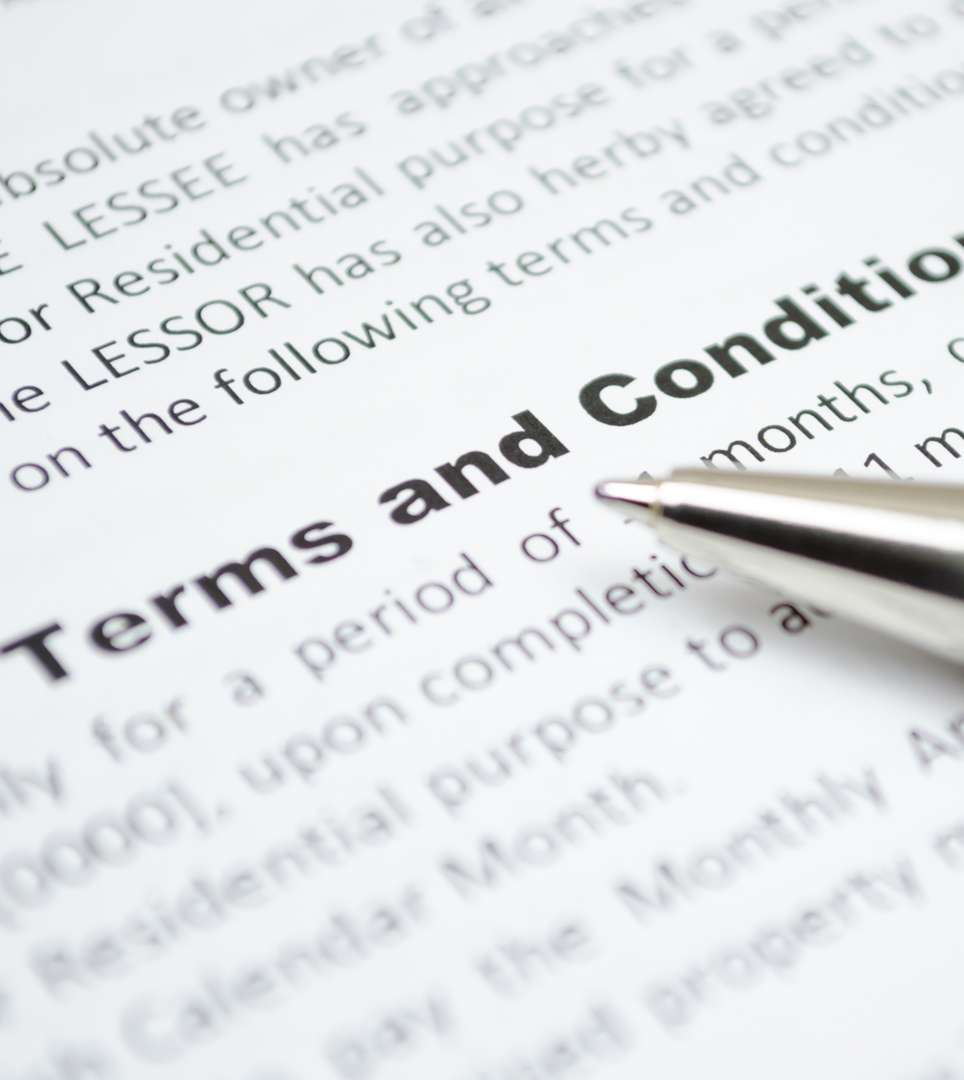 TERMS AND CONDITIONS  FOR THE STAGE STOP INN